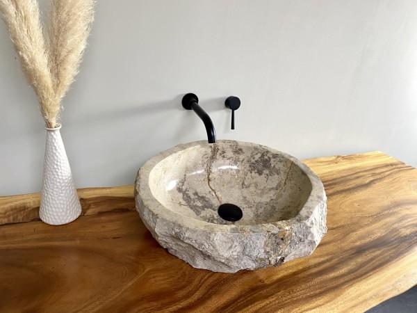 Naturstein Aufsatzwaschbecken Marmor 50x47 cm