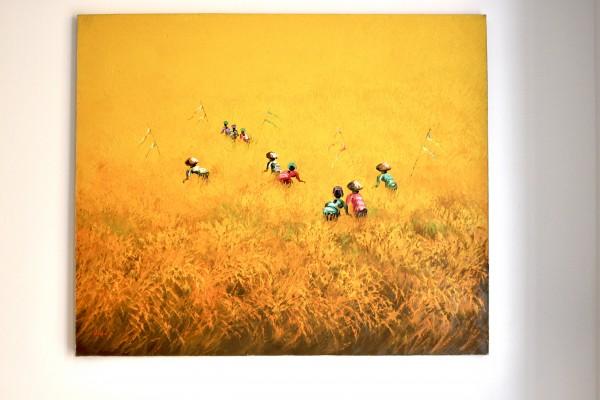 Painting Reisfeld 120x100