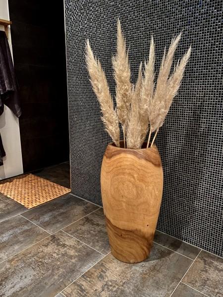 Holzvase Suar Wood 70 cm