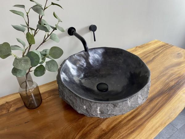 Naturstein Aufsatzwaschbecken Marmor 48x47 cm