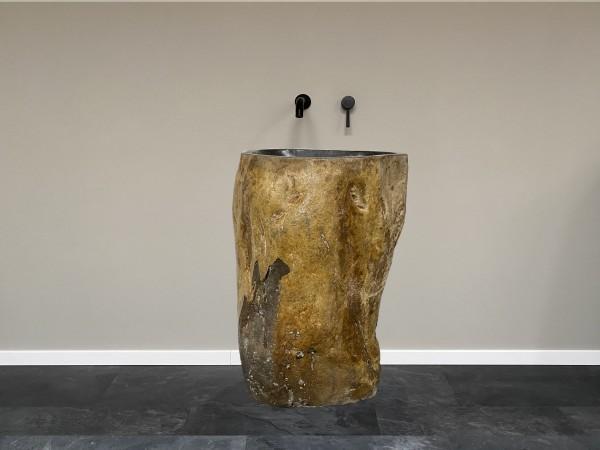 Naturstein Waschtischsäule Säulenwaschbecken Findling