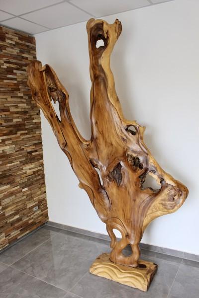 XXL Holz Skulptur Suar 245 x 160 cm