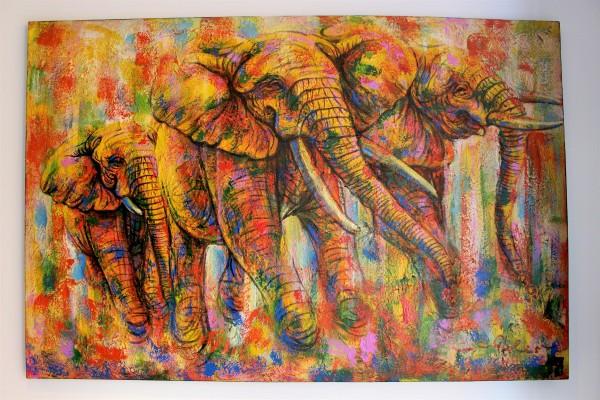 Painting Elefanten 100x150